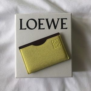 AUTHENTIC - Loewe Yellow Two Slot Cardholder